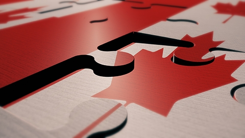 Canada--puzzle-flag-3d